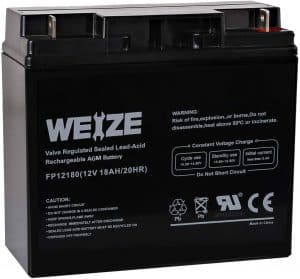 Weize 12 volts 18AH Sealed Lead Acid Battery