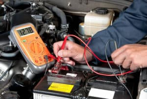 Measure the voltages of the battery