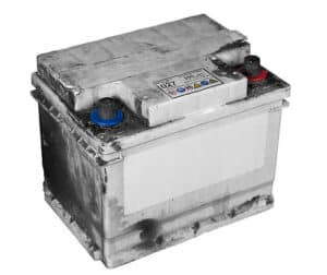 Open and clear the contents of the car battery