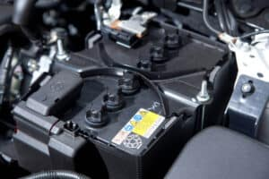 The time a car battery can sit unused